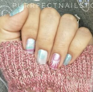 Color Street SEASCAPE (White Coral Pink Aqua Shell Shimmer Summer Beach Spring)