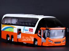 Orange Volvo 1:32 Luxury Travel Tourist Bus Diecast Model Sound Light PullBack