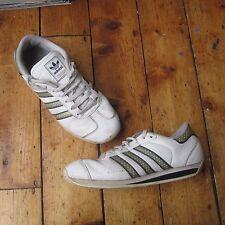 Adidas Vintage 2006 Cuero Blanco Tenis 463852 Hombre Unisex tres rayas UK 7