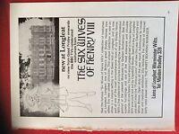 m78a ephemera 1972 film advert longleat the sixwives of henry viii