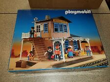 Vintage Playmobil 3770 Western Colorado Springs Train Station Depot Not Complete