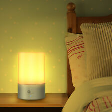 1byone Dimmable Bedside Lamp Touch Sensor Table Lamp Warm White Night Light RGB