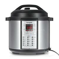 6QT Electric Power Rice Pressure Cooker 1000W w/ Slow Cook Stainless Steel O1G3