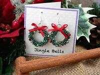 Kumihimo Christmas Wreath Earring kit - Disk not Included - Full instructions