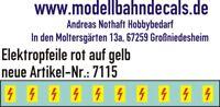 10 Spur 0 Elektropfeile 5x2,8mm - rot auf gelbem Schild 045-7115