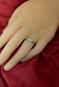 Vintage Platinum Band - 1955 - wedding ring