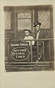 """Silly Studio Prop, """"Columbus Special"""", NY Central R.R., Columbus, Ohio OH RPPC"""