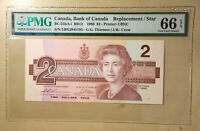 Canada BC-55bA-i 1986 $2 Thiessen | Crow S/N EBX2945195 Replacement PMG 66 EPQ