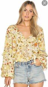 Spell & the Gypsy Collective Sayulita blouse in Sunflower -Size M - NWOT!