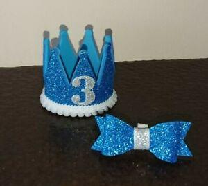Miniature Dog/Cat Birthday Party Crown/Hat & BowTie