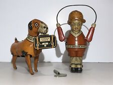 LITTLE ORPHAN ANNIE AND SANDY TIN LTHO WIND UP TOYS MADE BY MARX IN USA  1930s