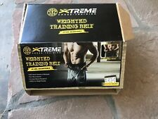 Gold's Gym Xtreme Adjustable Weighted Belt 10 lbs Strength Cross Training