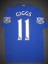 2008-2009 Nike Manchester United Ryan Giggs Jersey Shirt Kit Maglia Wales Blue