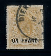[69237] Luxembourg 1872 1 Fr on 37 1/2 cent  USED VF