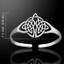 Celtic Knotwork .925 Sterling Silver Bangle Bracelet by Peter Stone