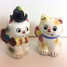 Vintage Cat Kittens Salt Pepper Shaker Set Vintage Japan Mr Mrs
