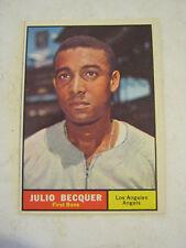 1961 Topps #329 Julio Becquer Baseball Card, Good Cond (GS2-b11)