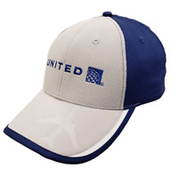United Airlines Grey And Blue Hat Brand New Adjustable Cap