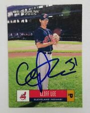 Cliff Lee Signed 2005 Donruss #160 Trading Card (Indians) COA