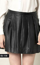Above Knee Pleated Solid Skirts for Women