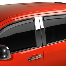 For Ford F-150 15-19 Putco In-Channel Element Tinted Front & Rear Window Visors