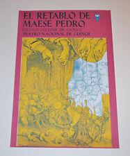 Cuban Theater Poster Art.Home or Room Decoration.El retablo de Maese Pedro.