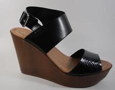NEW Women's JORE TAYLOR BLACK Platform Wedge Peep Toe Dress Shoes SZ 9
