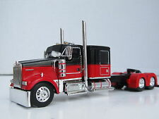DCP 1/64 Scale W-900 Kenworth Flat Top Red/Black long wheel base (Tractor Only)