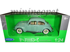 WELLY 22436 VW VOLKSWAGEN BEETLE HARD TOP 1/24 DIECAST MODEL CAR LIGHT GREEN