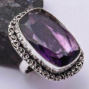 Amethyst Ethnic Handmade Ring Jewelry US Size-8.75 AR 39033
