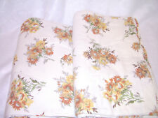 Vintage Floral TWIN Size Flannel Sheet Set