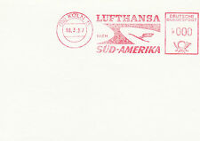 (91505) Germany Cover Lufthansa South America Metre Mail - Cologne 18 March 1957