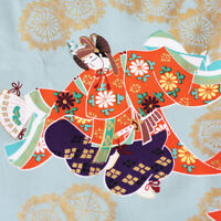 Geisha Kimono Iron on Patches Patch Japanese Lady Cotton Fabric DIY Craft Tshirt