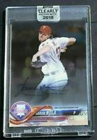 2018 Topps Clearly Authentic Baseball Aaron Nola #CAA-AN On -Card Autograph