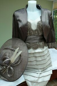 Ispirato Designer Occasion outfit with hat Size 12 Vanilla/Muscovado