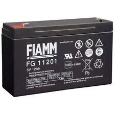 BATTERIA FIAMM FG11201 6V 12A PIOMBO GEL ERMETICA 12AH RICARICABILE 13,8V 4.8mm