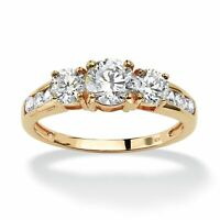 1.88 TCW Cubic Zirconia 10k Gold Engagement Anniversary Ring