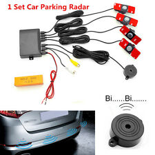 Car Visible Parking Sensor Reverse Backup Radar Alarm System + 16mm Flat Sensors