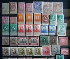Briefmarken aus Belgien mit Falz