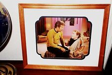 Star Trek James Kirk Art Print Photo Plato's Stepchildren Dunn Vtg 1968 Framed