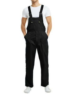 TOPTIE 8.5 Oz Men's Big and Tall Bib Overall with Tool Pockets, Work Cargo Pants