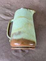 "Vintage Frankoma Pottery #80 Tall Prairie Green Pitcher 9"""