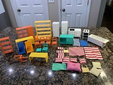 IKEA DOLL HOUSE FURNITURE LARGE set LOT  DINING ROOM KITCHEN OFFICE LINENS BATH