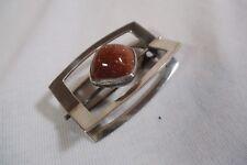 Rare Elis Kauppi Kupittaan Kulta Modernist 813H Silver Gold Stone Brooch Brooch
