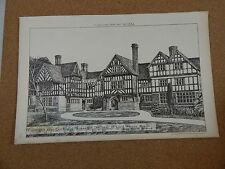 Antique Architects Print, Colwood Cuckfield Sussex Building news 1884