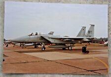 Original Photograph F15 Eagle Fighter Jet Aircraft.