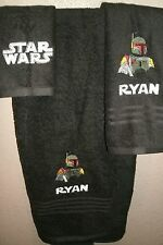 Star Wars Boba Fett Personalized 3 Piece Bath Towel Set