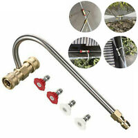 """Gutter Cleaner Attachment For Pressure Washer W/ 4 Nozzles Tips 1/4"""" Accessory"""