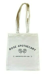 SALE *Limited stock Rose Apothecary ~ Schitts Creek TV show white satin tote bag