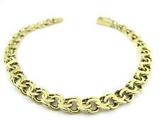 Goldkette Double Armband Vergoldet 24 kt Feingoldauflage 5,6 mm